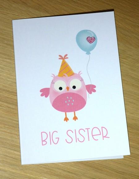 Big Sister - new sibling card