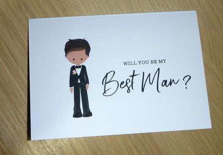 Wedding Bridal Party cards - Best Man - Groomsman - Page boy