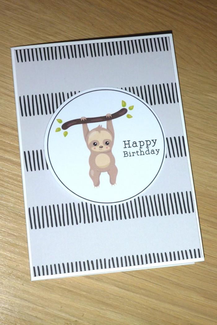 Happy Birthday Card Sloth Vicki G Madeitcomau