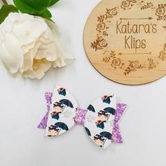 Medium Disney Mary Poppins  Glitter Bow clip