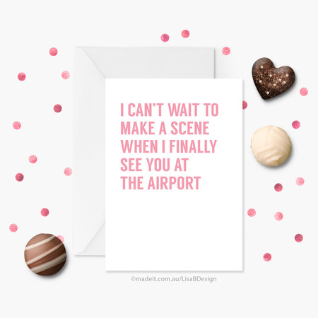Funny Long Distance Card | Valentines Card