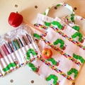 Library Bag/Pencil Roll - Hungry caterpillar