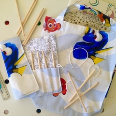 Library/Shopping  Bag & Pencil Roll Set - Nemo/Dory