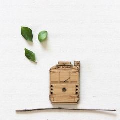 Melbourne Tram Magnet, Bamboo Fridge Magnet, Australia Made Souvenir Gift