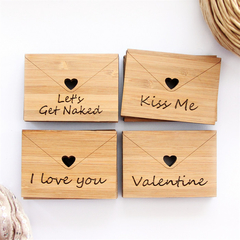 6 Love Letters Select your own bamboo Valentine's Day Anniversary romantic