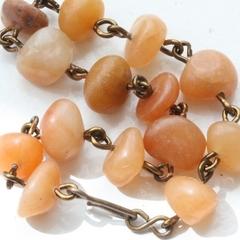 Carnelian Nugget & Brass Bracelet