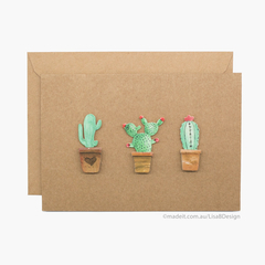 Handmade Card | Cactus Card | 3D Stickers | Card for Her | Birthday Card