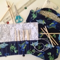 Dinosaur Library/Shopping Bag & Pencil Roll Set