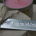 """""""Kissing in the Rain"""" Soy wax candle with custom embossed name tag"""