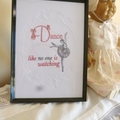 """""""Dance"""" Framed Embroidered Picture"""