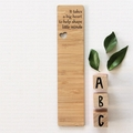 Teacher Bookmark Bamboo Thank You Gift It takes a big heart to help shape...