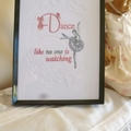 """Dance"" Framed Embroidered Picture"