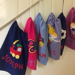 Child's Personalised Library Bags/Toy Bags - Various Designs