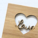 Love Bamboo Card Valentine's Day Anniversary Wedding Engagement