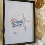 """Why Walk"" Framed Embroidered Picture"