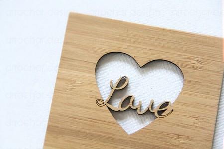Love Bamboo Card Valentine's Day Anniversary Wedding Engagement