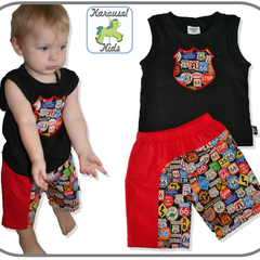 SIZE 1 Route 66 Singlet and shorts SET