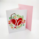 Custom Age Birthday Card | Birthday Card for   18th, 21st, 50th with Heart