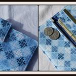 Blue tile wallet