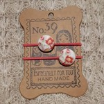 Hairband / Elastic - 'Amy' fabric covered button (19mm)