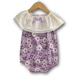Purple Daisy seaside Romper