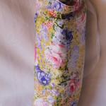 Lemon floral water bottle holder