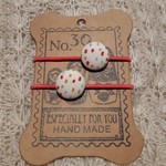 Hairband / Elastic - 'Lilly' fabric covered button (19mm)