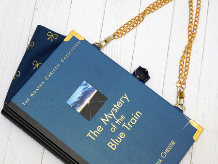Agatha Christie Novel Bag - Mystery of the Blue Train  - Bag made from a book