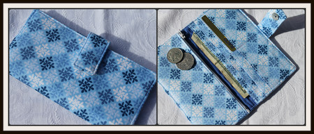 Blue tile wallet