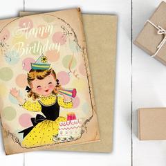 Party Girl Birthday Card