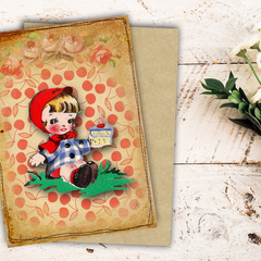 Little Red Riding Hood Birthday Card