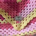 Baby blanket in bright granny stripes