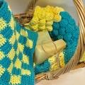 Set of  3 Washcloths Spa cloths or Dishcloths
