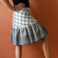 Wrap Skirt, Recycled fabric(One size fits most Small - Large)