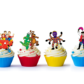 12x Wiggles Edible Wafer Cupcake Toppers Pre-cut