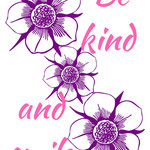 Be kind and smile A4 print