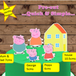 Peppa Pig XL Edible Wafer Cake Toppers PRE CUT