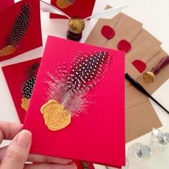Harry Potter inspired Hogwarts cards & envelopes set of 3