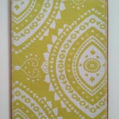 Blank Greeting Card - Lime Green Bohemian Floral - Birthday, Wedding, Thank You