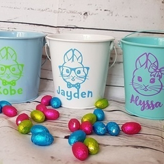 EASTER TIN - PERSONALISED - EASTER BASKET | BUCKET