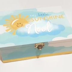 Our Little Sunshine Keepsake Memory, Trinket, Jewellery, Wooden, Baby Box