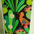 Blank Card - Bright Tropical, Cactus, Bird - Birthday - Graduation - Thank you
