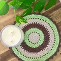 Modern Round Doily - Rainforest