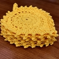 Leaf Drink Coasters - Sunshine Yellow