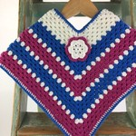 Pure Wool Crochet Poncho | 1 - 2 Years | Girls | Hand Crocheted | Ready to Post