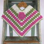 Pure Wool Crochet Poncho   6 - 12 Mths   Girls   Hand Crocheted   Ready to Post