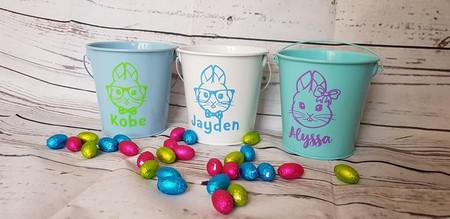 Personalised Easter Bucket - MINT