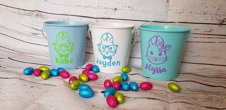 Personalised Easter Bucket - WHITE