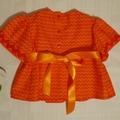 'The Orange One' - cute 70s style top in bright orange. Size 1