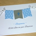 Personalised Boys Christening -Baptism - Naming Day Card
